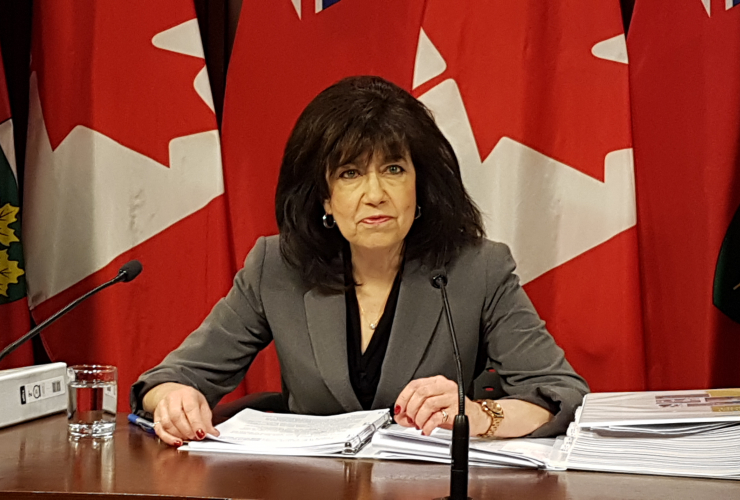 Ontario Auditor General Bonnie Lysyk speaks to media following the release of her annual report in Toronto on Dec. 5, 2018. Photo by Fatima Syed
