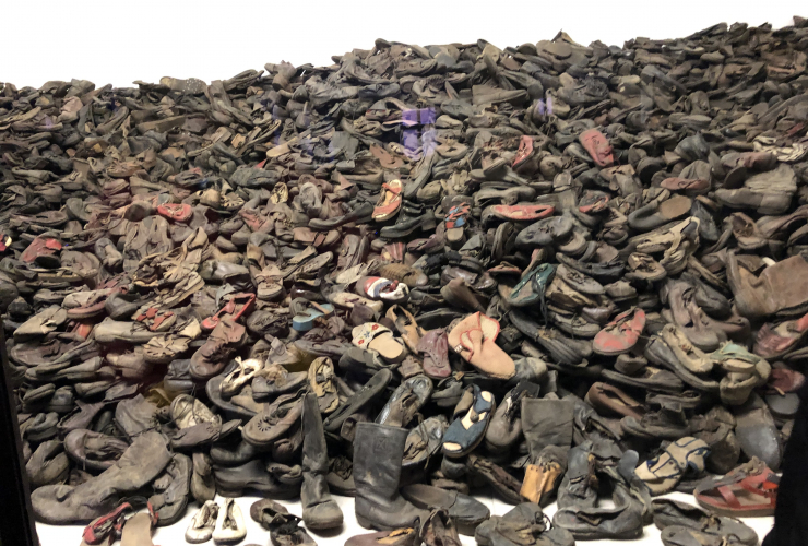 Shoes at Auschwitz by Tzeporah Berman. December 2018.