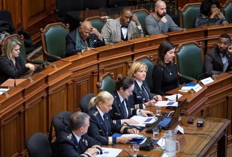 Lawyer Jacky-Eric Salvant, Gabriel Bazin, Ligue des Noirs du Quebec, Montreal Police,
