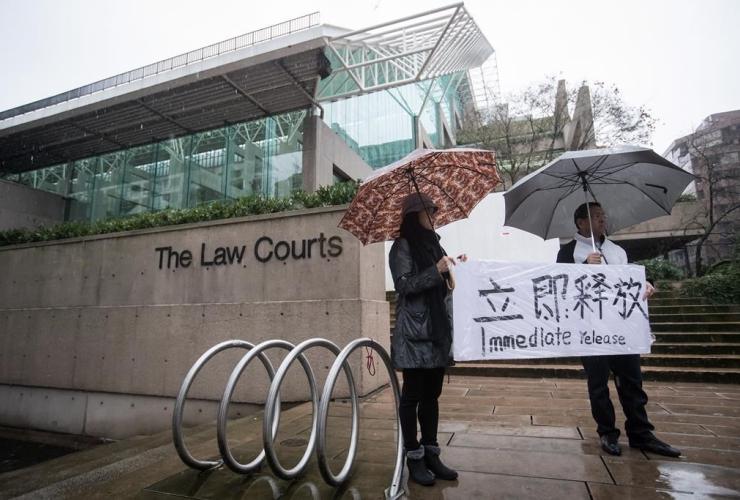 Supporters, B.C. Supreme Court, bail hearing, Meng Wanzhou, Huawei Technologies, Vancouver,