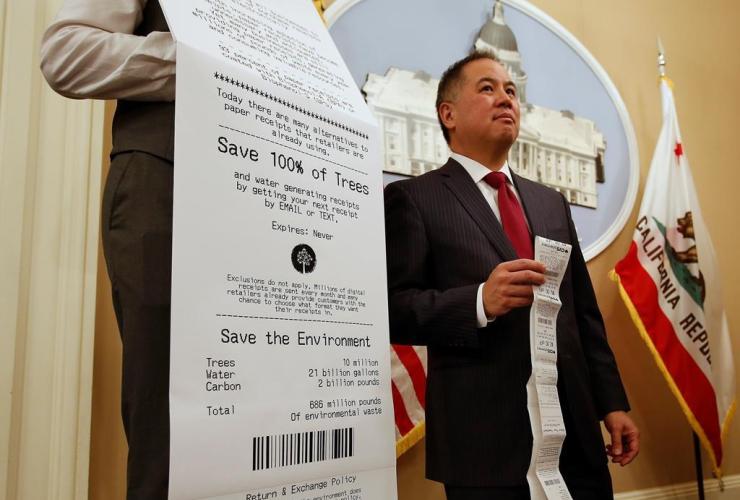 Assemblyman Phil Ting, D-San Francisco, paper receipt, electronic receipts,