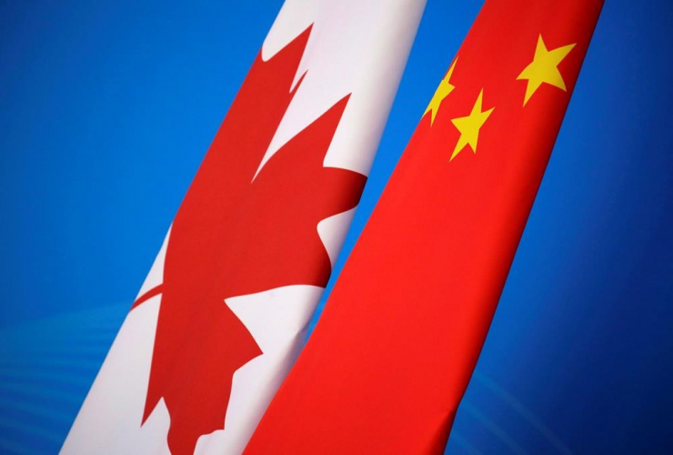 Flags, Canada, China, China-Canada economic and financial strategy,