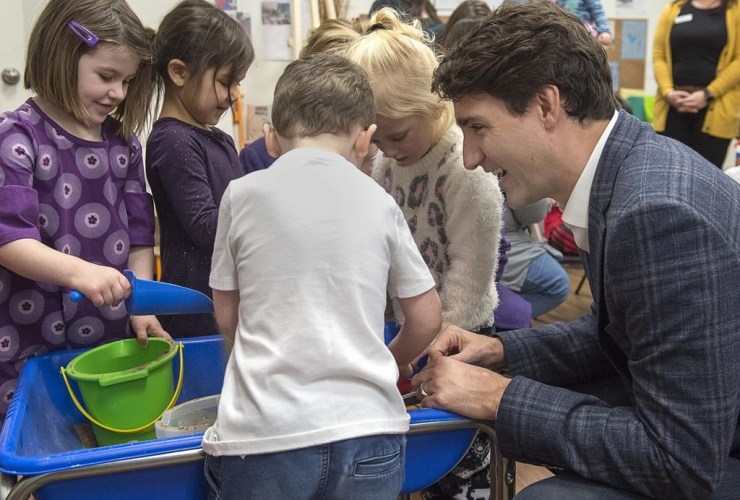 Prime Minister Justin Trudeau,  Origins Natural Learning Childcare Center, Quispamsis,