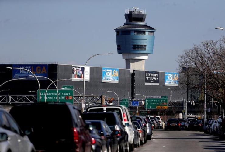 air traffic control tower, LaGuardia Airport,