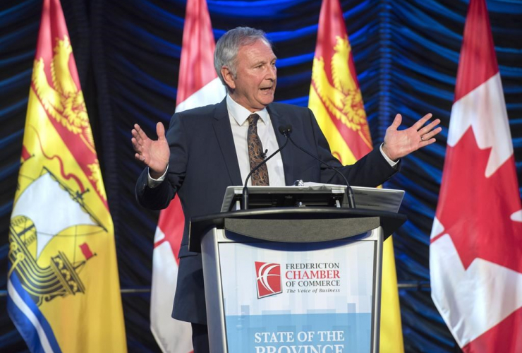 New Brunswick Premier Blaine Higgs, State of the Province address, Fredericton,