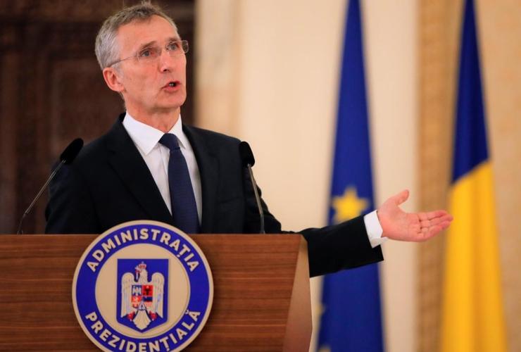 NATO Secretary-General, Jens Stoltenberg, Bucharest, Romania,
