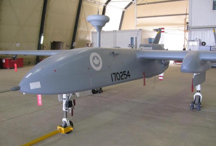 Heron pilotless spy drone, Canadian military, Kandahar Airfield,