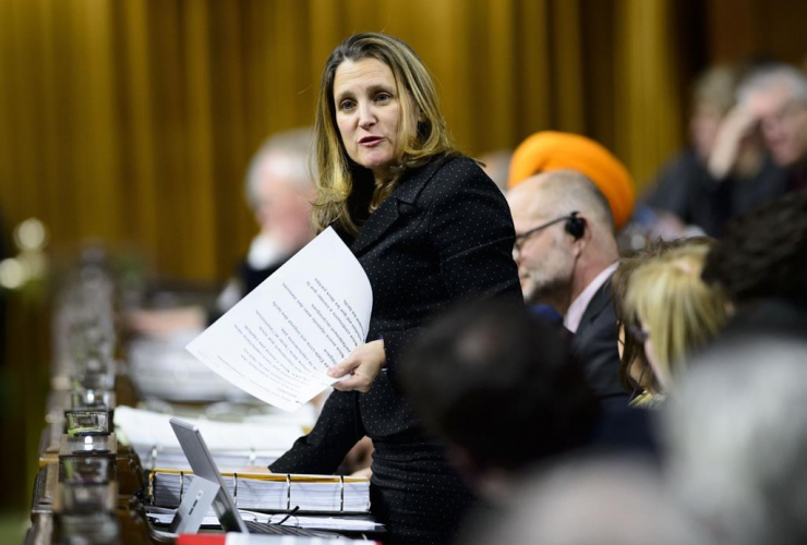 Minister of Foreign Affairs Chrystia Freeland, House of Commons, Parliament Hill,