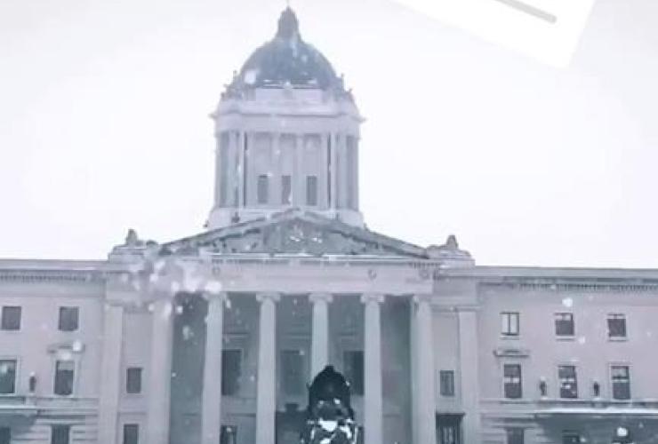 snowy day in Winnipeg, Manitoba Premier Brian Pallister, Instagram account,