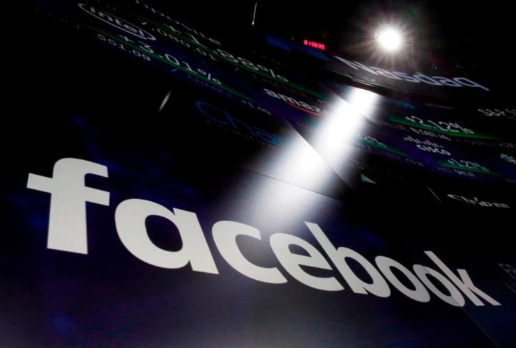 logo for Facebook, Nasdaq MarketSite, New York, Times Square,