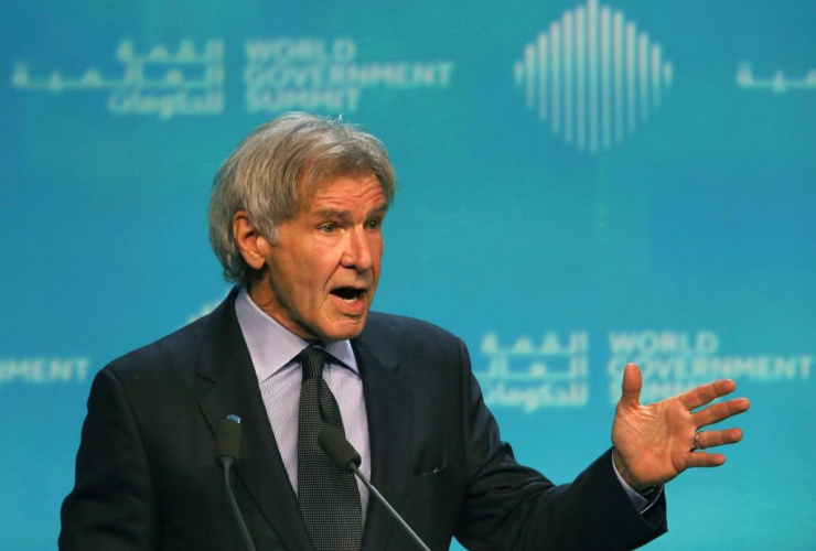 American actor, Harrison Ford, ocean conservation, World Government Summit, Dubai, United Arab Emirates,