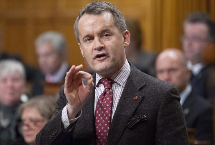 Minister of Veterans Affairs, Seamus O'Regan,