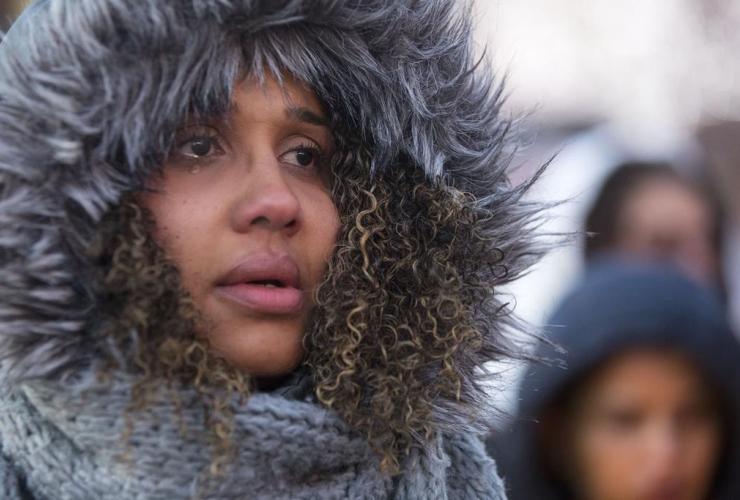 woman, sheds, tear, candlelight vigil, Riya Rajkumar, Brampton, Ontario,