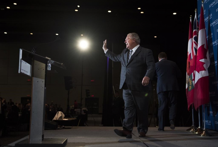 Ontario Premier Doug Ford, Economic Club of Canada, Toronto,