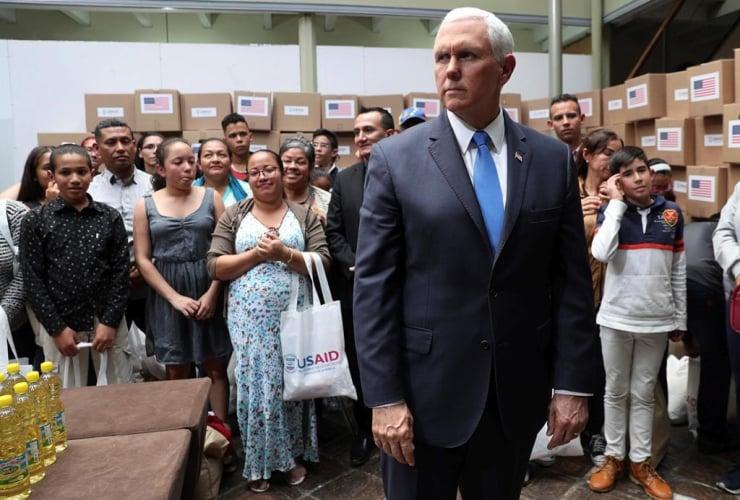 Vice President Pence, humanitarian aid, Venezuela, Venezuelan migrants, Bogota, Colombia,