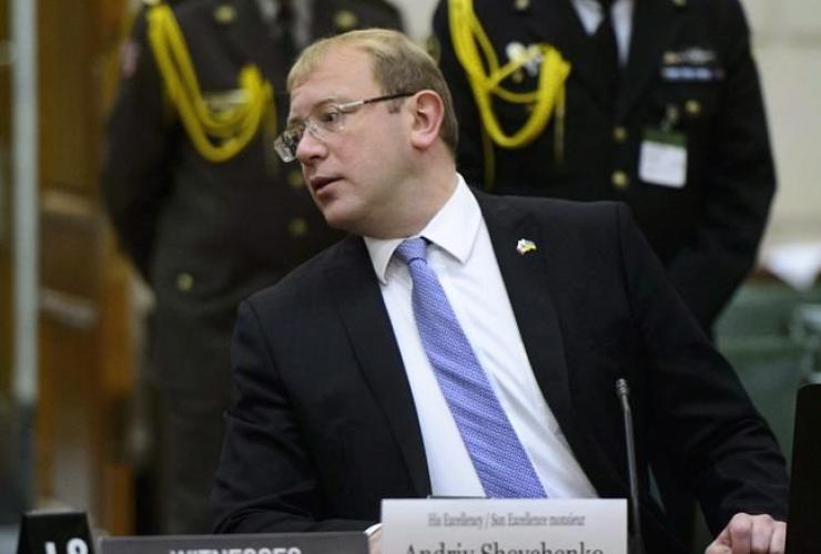 Ukrainian ambassador, Canada, Andriy Shevchenko,
