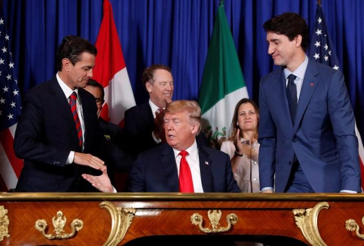 Donald Trump, Enrique Pena Nieto, Justin Trudeau,