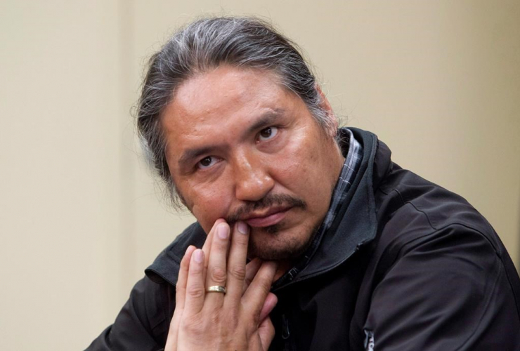 Chief Allan Adam of the Athabasca Chipewyan First Nation,