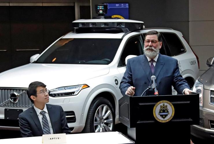 William Peduto, autonomous vehicle, Uber, Pittsburgh,