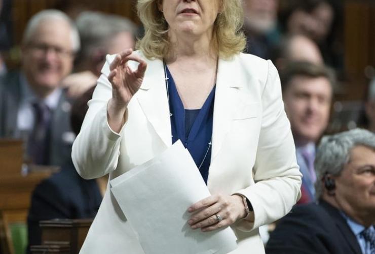 Conservative MP Lisa Raitt, Question Period, House of Commons,