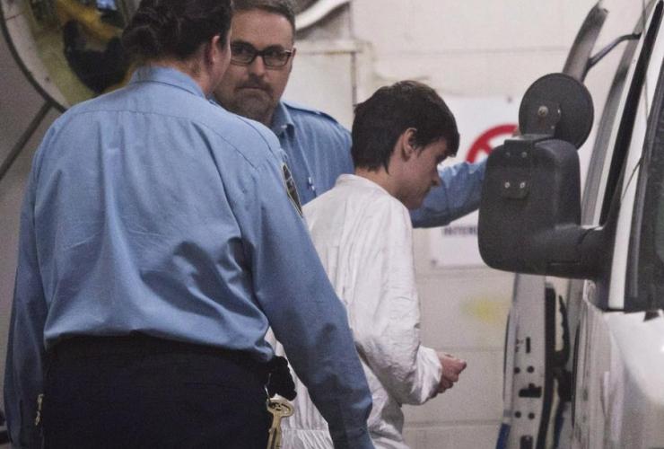 Alexandre Bissonnette, escorted, van, shooting, mosque,