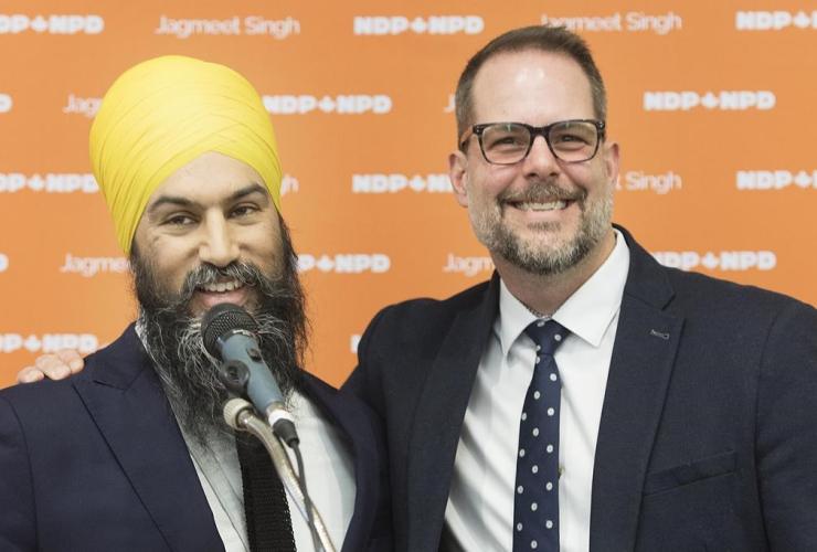 NDP leader Jagmeet Singh, Alexandre Boulerice,