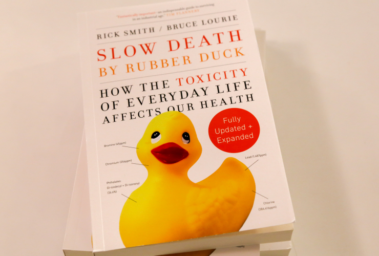 The new 10th anniversary edition of the book 'Slow Death by Rubber Duck' examines health impacts and calls for stronger regulations against toxic chemicals in Canada and around the world.
