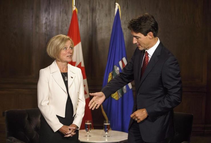 Prime Minister Justin Trudeau, Alberta Premier Rachel Notley, Edmonton,