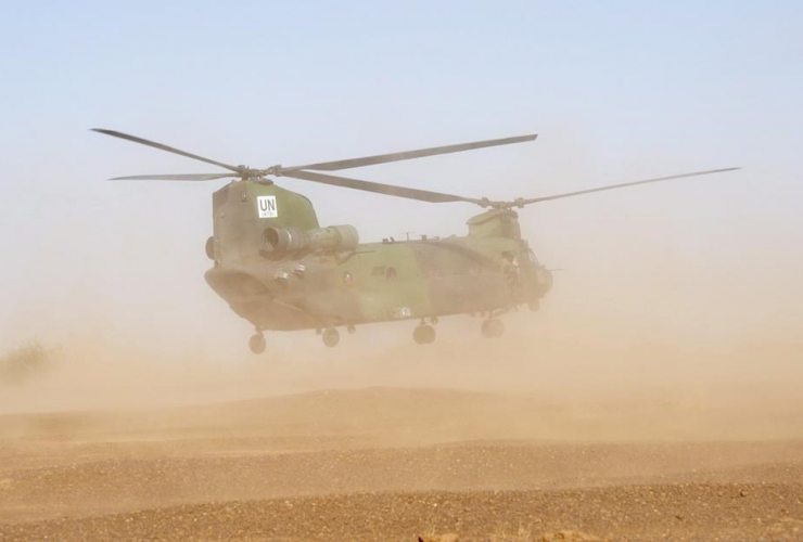Chinook helicopter,