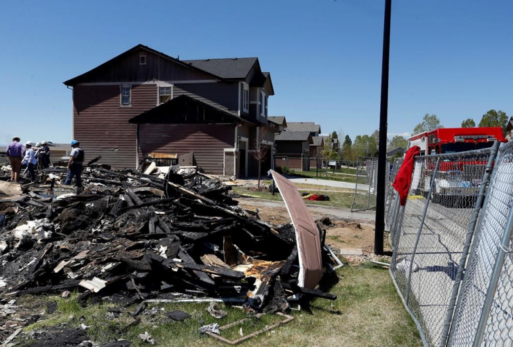 workers, charred remains, home, Firestone, explosion,