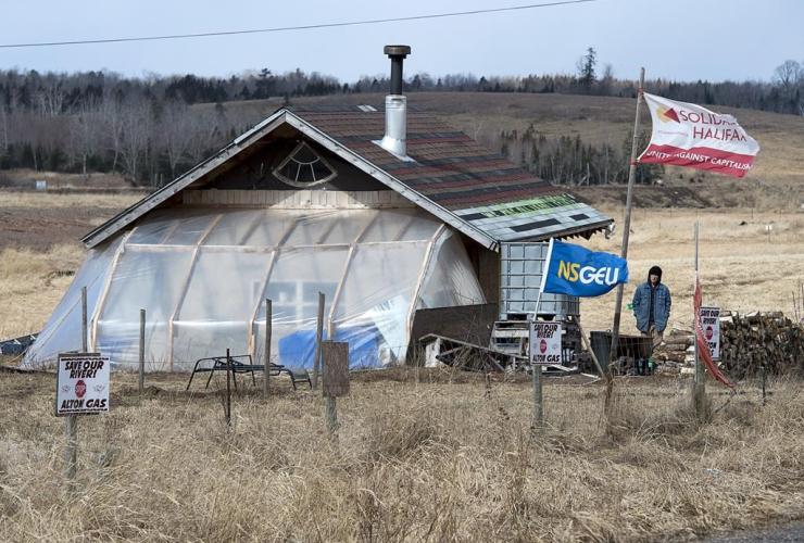Mi'kmaq camp,