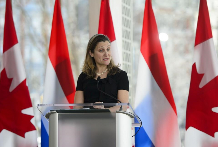 Chrystia Freeland, Minister of Foreign Affairs and the Foreign Affairs Minister of the Netherlands, Stef Blok, National Arts Centre,