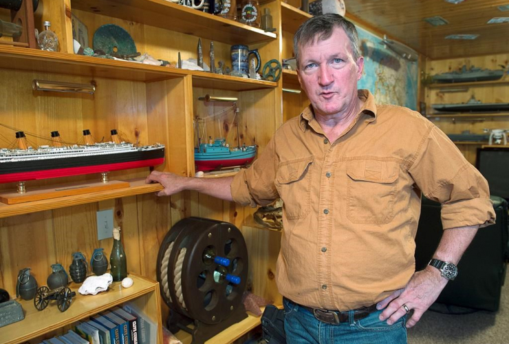 Duane Dauphinee, underwater archaeologist, treasure salvager, undersea treasure recovery,