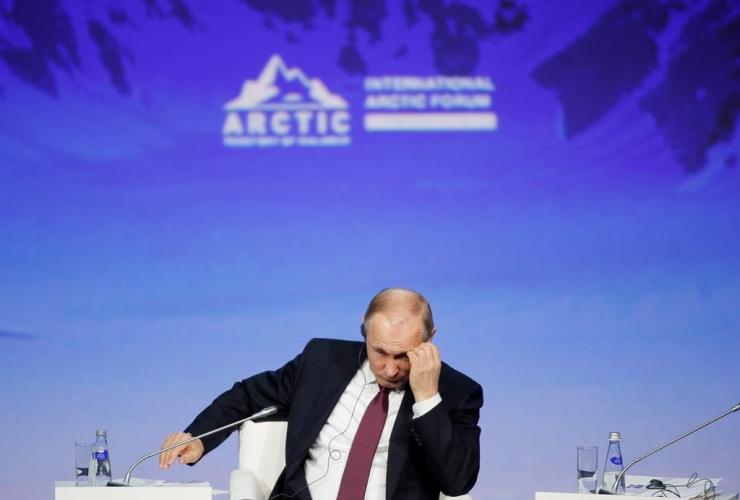 Russian President Vladimir Putin, International Arctic Forum, St. Petersburg, Russia,