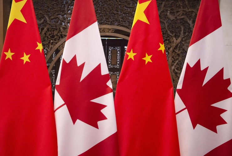 flags, Canada, China,