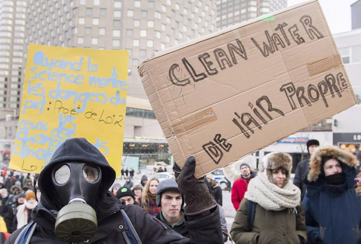 People, climate change, demonstration, Montreal,