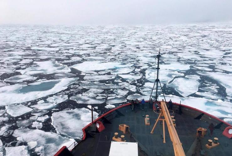 USCG Icebreaker Healy, Chukchi Sea, Arctic Ocean,