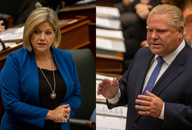 Andrea Horwath, Doug Ford