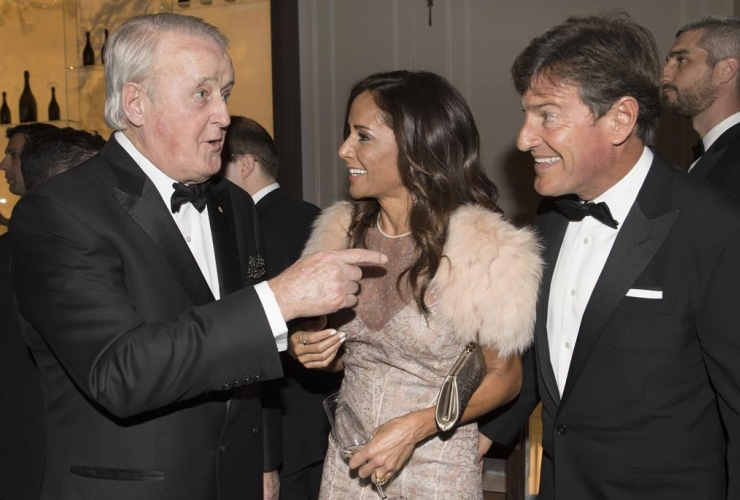 Former Prime Mininster Brian Mulroney, Stephen and Claudine Bronfman,
