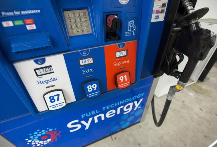 gas pump, North Vancouver,