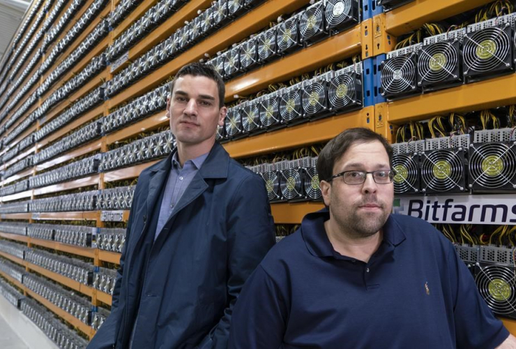 Bitfarms, Pierre-Luc Quimper, Wes Fulford, bitcoin mine, Magog, Que.,