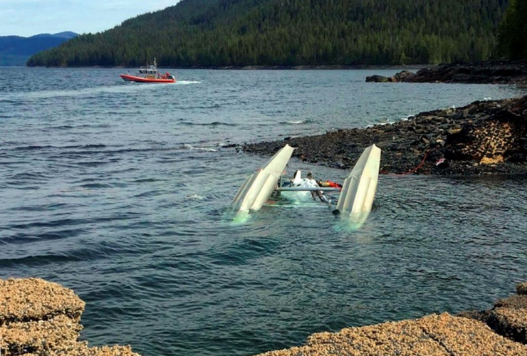 Coast Guard Station Ketchikan, response boat crew, survivors, floatplane, George Inlet, Ketchikan, Alaska,