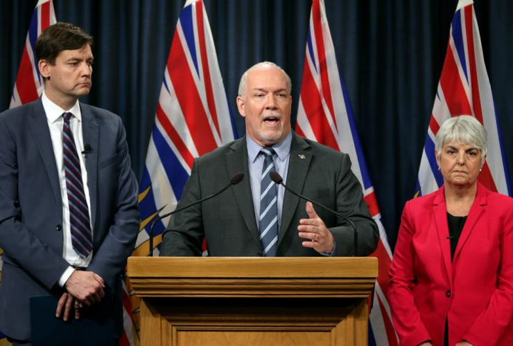 John Horgan, Carole James, David Eby,