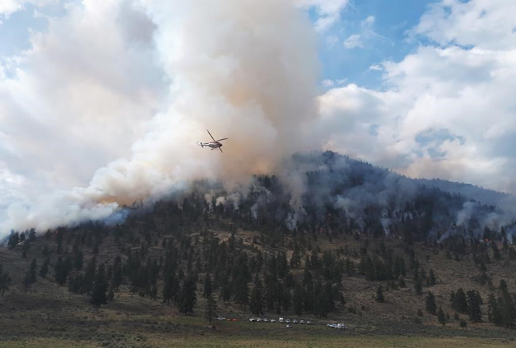helicopter, wildfire, Osoyoos,
