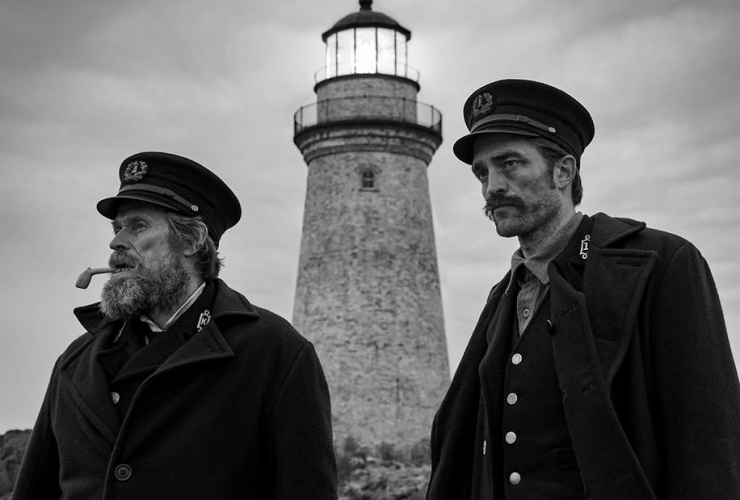 Willem Dafoe, Robert Pattinson, The Lighthouse, Yarmouth,