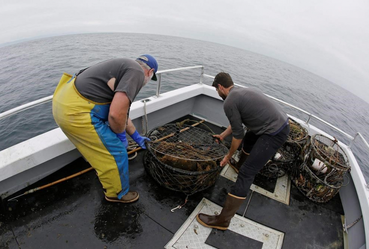 Jake Bunch, Tom Dempsey, Nature Conservancy, crab pots, Half Moon Bay, Calif.,