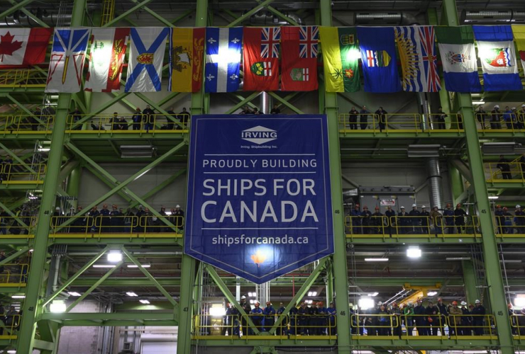 Shipbuilders, Irving employees, Irving Shipbuilding, Halifax shipyard,