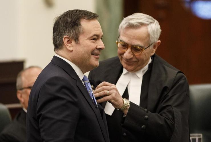 Robert Wanner,  Alberta Premier Jason Kenney, Alberta Legislature, Edmonton,