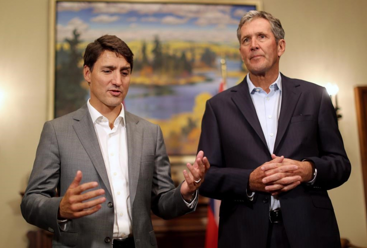 Prime Minister Justin Trudeau, Premier Brian Pallister,