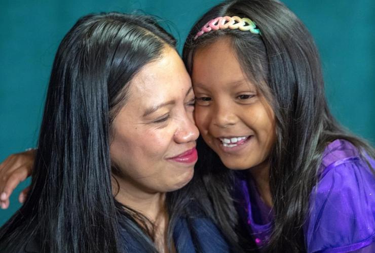 Vanessa Rodel, daughter Keana,